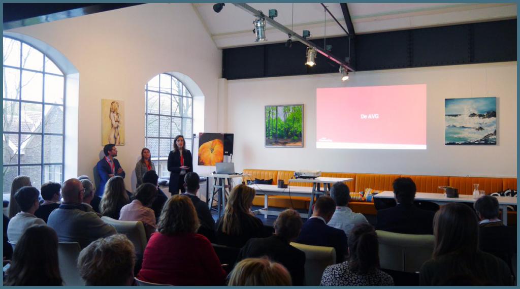 Marieke presenteert AVG bevindingen aan zorgorganisaties
